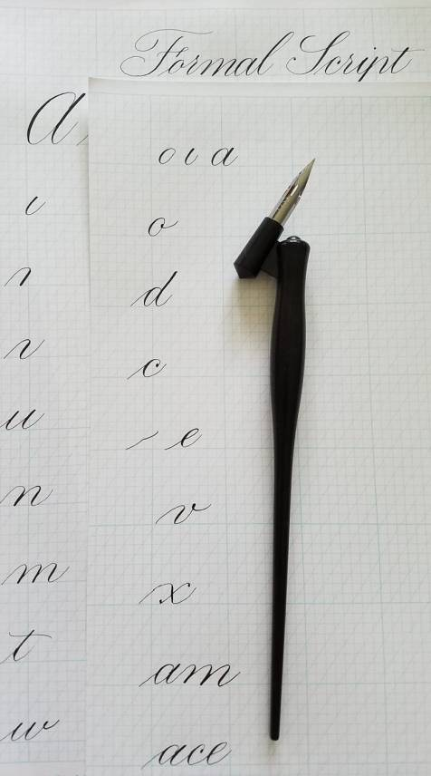 Pointed Pen w letters
